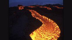 SD版エトナ火山・山腹の溶岩流1992年8月