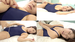 Very embarrassing electric masturbation with popular actress Yurina Amaki's swimsuit!