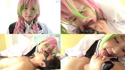 [Face Licking / Nose Blow] Demon ● Blade Sweet ● Tera Mitsuri (Tsugumi Mizusawa) Chan's Extremely Erotic Face Licking & Nose Blow & Handjob! !! !!