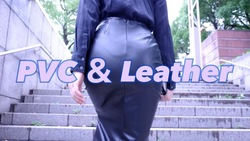 PVC skirt & Leather pants