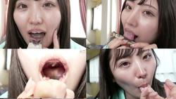 [牙齿和舌头]业余模特麻美议员的嘴观察&舔松鼠&手指吹! !! !!