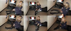 Street legs & socks snaps Photobook + Video Minato ~ Black Tights ~